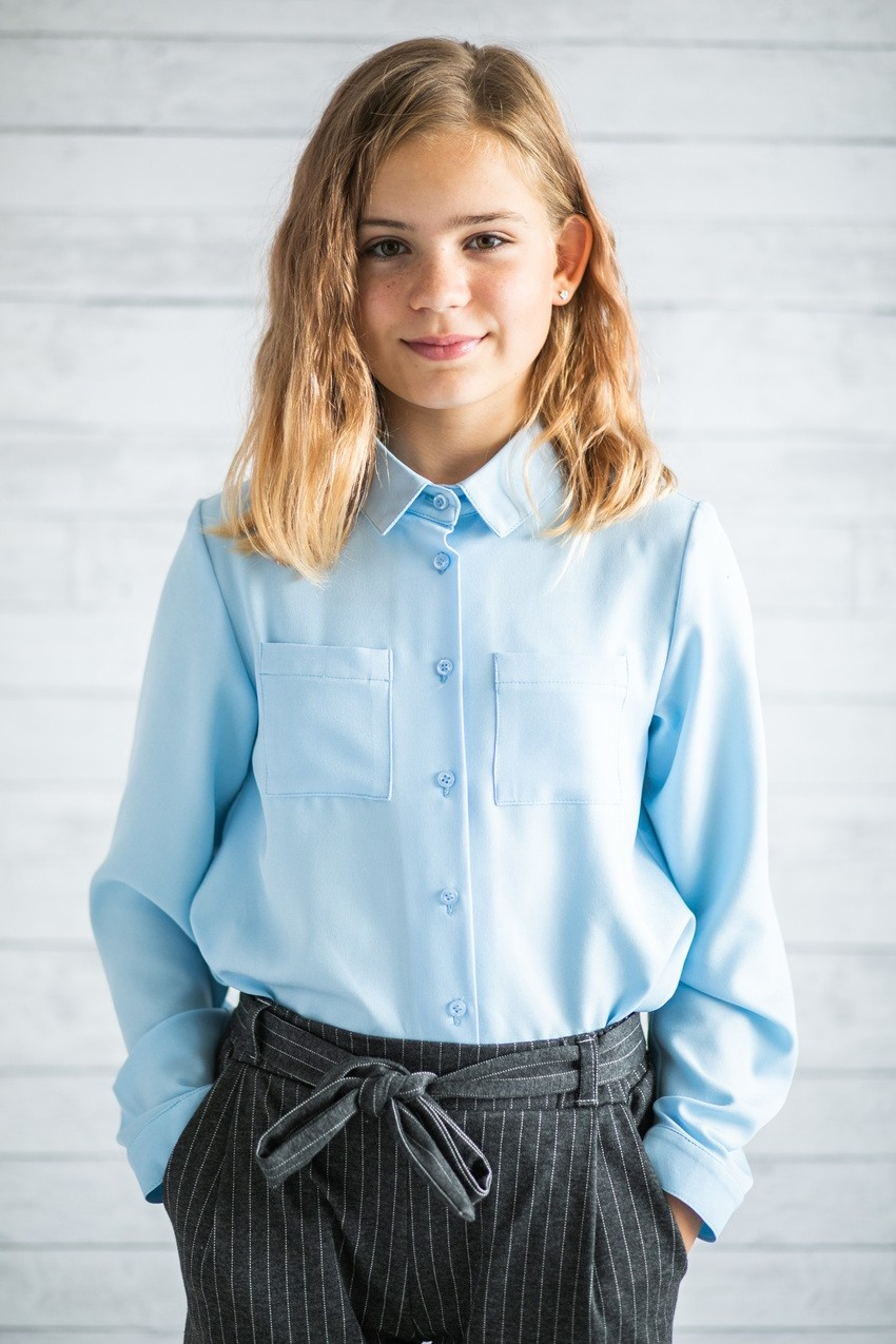 Сорочка голуба для дівчаток (підлітків) 7-15 років