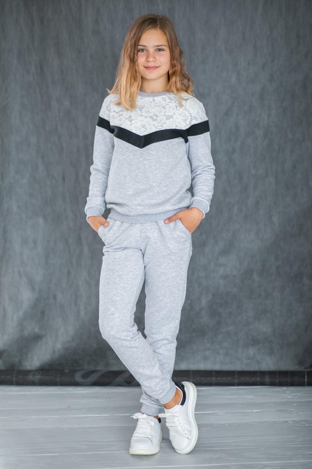 Спортивний костюм з мереживом для дівчаток (підлітків) 7-15 років