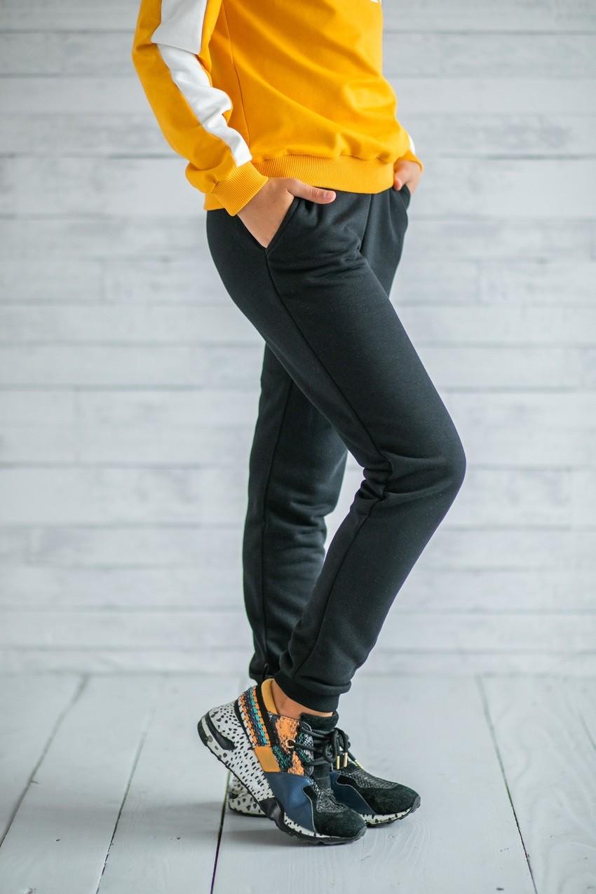 Спортивні чорні штани для дівчаток (підлітків) 7-15 років