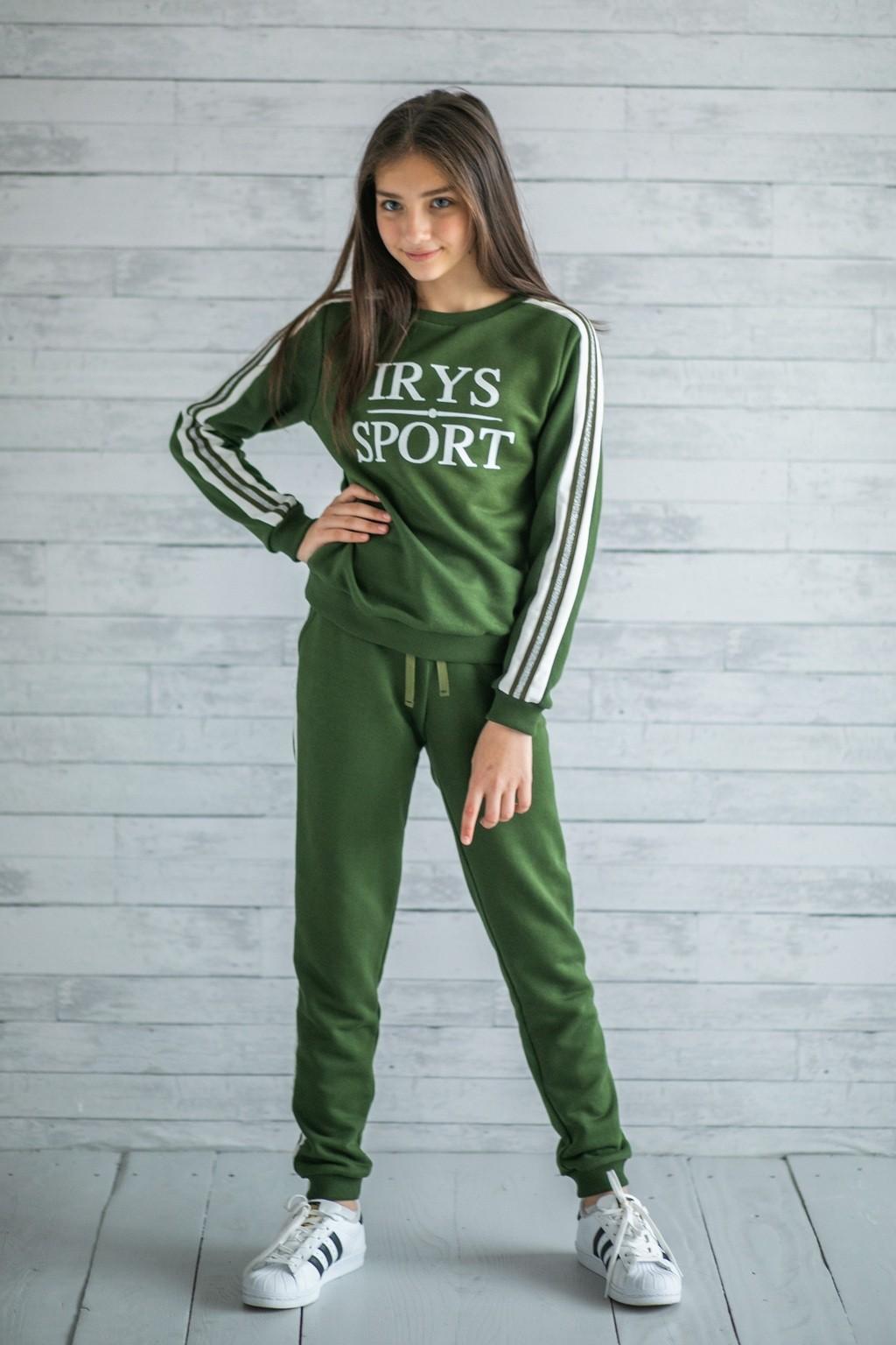 Спортивний костюм Хакі для дівчаток (підлітків) 7-15 років