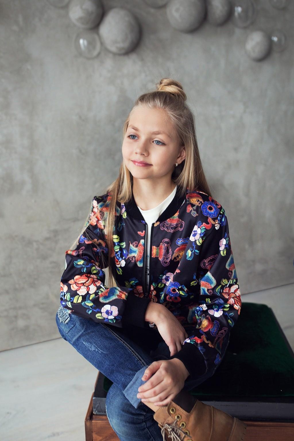 Бомбер Flore для дівчаток (підлітків) 7-15 років