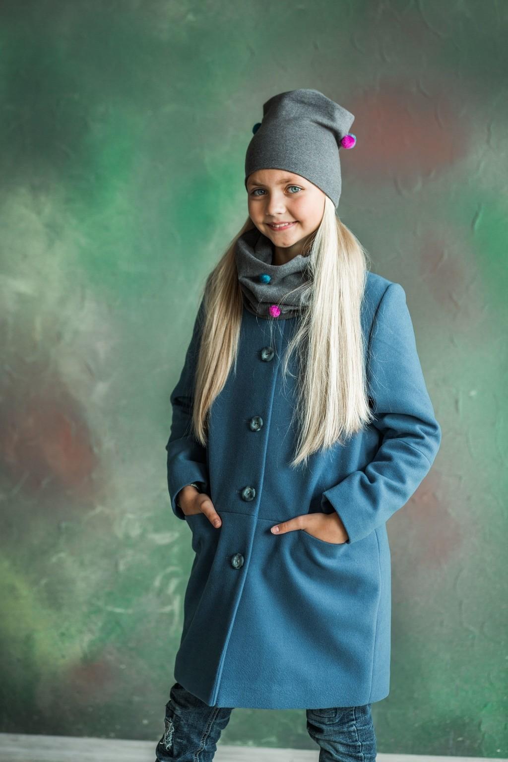 Пальто Mery для дівчаток (підлітків) 7-15 років